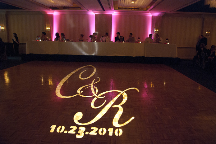 Oklahoma Wedding Dj Monogram Lighting Music Mix Pro